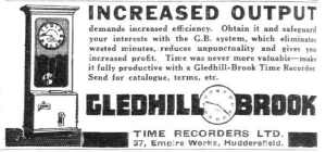 Gledhill Brook advertisement