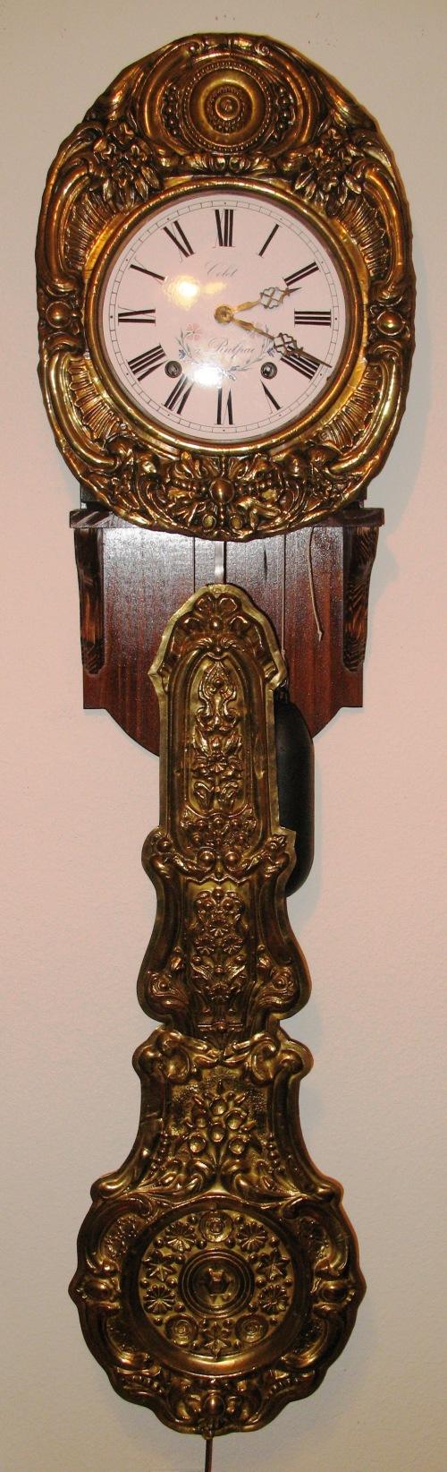 French Morbier (Comtoise) Clock. ca 1860.